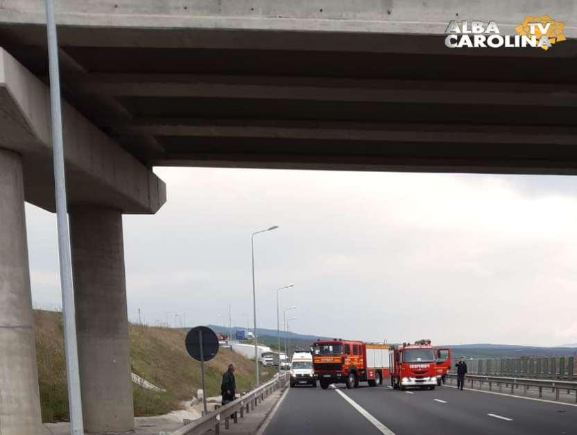accident autostrada sibiu convoi