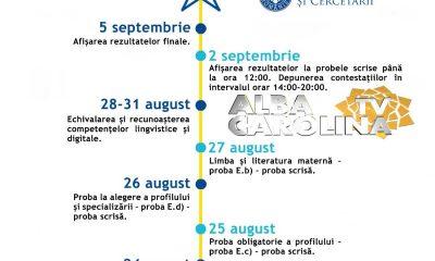 calendar bac sesiune toamna