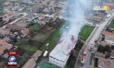 incendiu scoala sancel